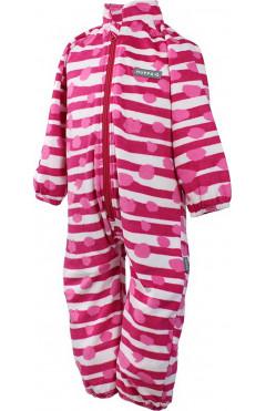 Детский комбинезон для девочки ROLAND, утепленный, флис, фуксия с принтом, р. 74,80,122 Huppa Эстония