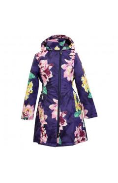 Детское пальто для девочки LUISA, демисезон, темно-лиловый р. 128,134,140,146,152 Huppa Эстония