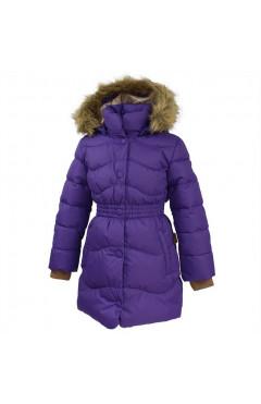 Зимнее пальто на девочку  GRACE 1, лиловый, мембрана/пух, р.122,128, Huppa Эстония