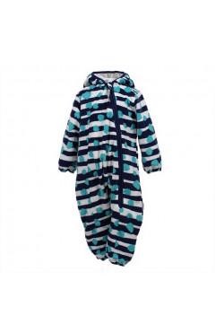 Детский комбинезон для мальчика DANDY, утепленный, с капюшоном, флис, темно-синий с принтом, р. 62,68,74 Huppa Эстония