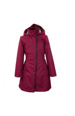 Детское пальто для девочки LUISA, демисезон, бордовый р.134,140,146 Huppa Эстония