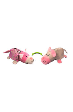 Мягкая игрушка с пайетками 2 в 1 - ZooPrяtki - КОТ-МЫШЬ (12 cm)