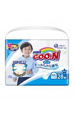 Трусики-подгузники GOO.N для мальчиков 13-25 кг (размер BigBig (XXL), 28 шт)