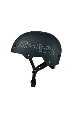 Защитный шлем MICRO - ЧЕРНЫЙ (52-56 cm, M)