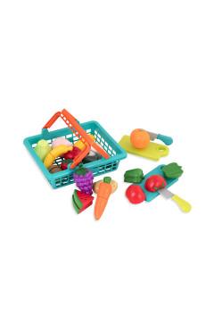 Игровой набор для двоих - ОВОЩИ-ФРУКТЫ НА ЛИПУЧКАХ (в корзинке, 37 предметов)