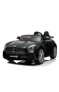 Детский электромобиль с пультом для родителей HARLEYBELLA-MERCEDES-BENZ AMG GTR (двиг.35Wx2,LCD,MP3,USB,7км/ч макс.,черн)