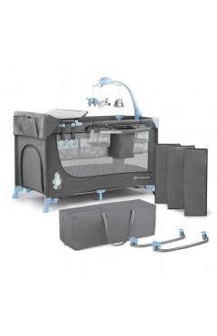 Кровать-манеж с пеленатором Kinderkraft Joy Blue (KKLJOYBLU000AC)