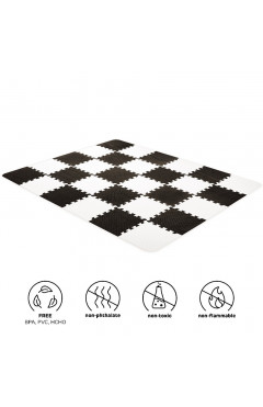 Коврик-пазл Kinderkraft Luno Black, 30 элементов (KKMLUNOBLK0000)
