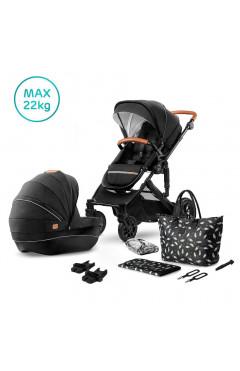 Универсальная коляска 2 в 1 Kinderkraft Prime Black + MommyBag (KKWPRIMBKMB200)