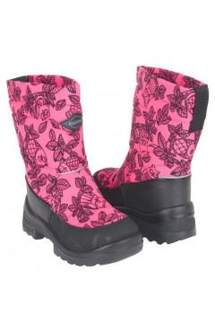 Зимние ботинки для девочки, текстиль, кожа, мех, р.22,24,25,26, Kuoma Финляндия