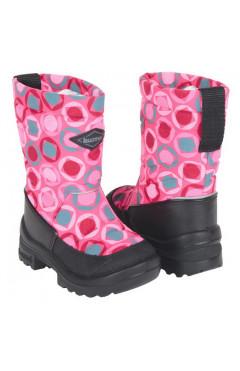 Зимние ботинки для девочки, текстиль, кожа, мех, р.22,23,24,25,26,28, Kuoma Финляндия