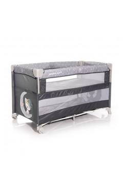 Манеж-кровать Lorelli UP AND DOWN (grey cute moon) серый