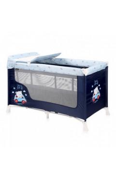 Манеж-кровать Lorelli SR 2L (blue bear) с пеленатором, синий