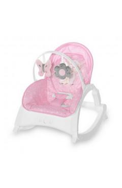Шезлонг-качалка Lorelli ENJOY (pink hug) вибро режим, розовый