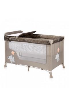Манеж-кровать Lorelli SR 2L (beige elephant) с пеленатором, бежевый