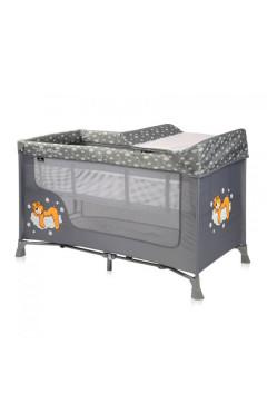 Манеж-кровать Lorelli SR 2L (grey clouds) с пеленатором, серый
