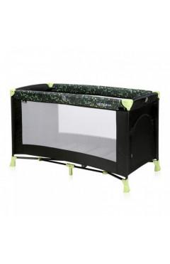 Манеж-кровать Lorelli VERONA 1L (black/green dots) черный
