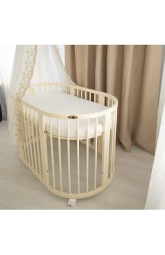 Овальная кроватка Royal Sleep 7в1 Слоновая кость