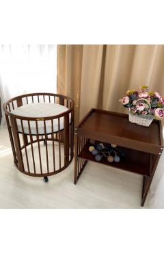 Овальная кроватка Royal Sleep 9в1 Орех