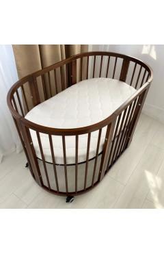 Овальная кроватка Royal Sleep 7в1 Орех
