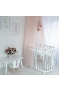 Овальная кроватка Royal Sleep 7в1 Белая