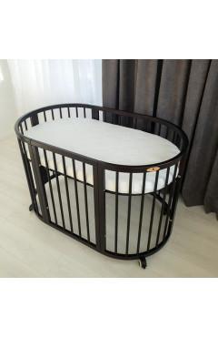 Овальная кроватка Royal Sleep 7в1 Венге