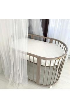 Овальная кроватка Royal Sleep 7в1 Какао