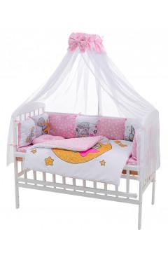 Детская постель Babyroom Bortiki Print-08  pink teddy
