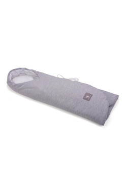 Конверт в коляску и автокресло Cottonmoose ODWF 439/49/51 melange cotton jersey white cotton jersey (серый меланж)