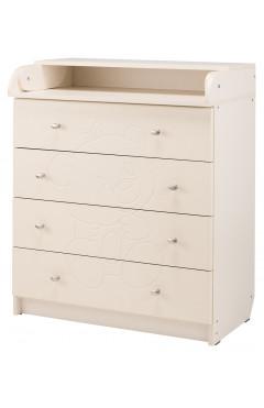 Пеленальный комод Babyroom Комод Медвежонок 102x80x50  ваниль