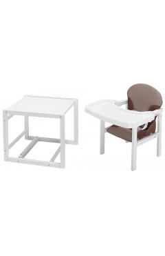 Стульчик- трансформер Babyroom Пони-240 белый пластиковая столешница  капучино-шоколад