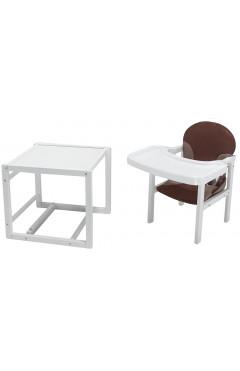 Стульчик- трансформер Babyroom Пони-240 белый пластиковая столешница  шоколад-капучино