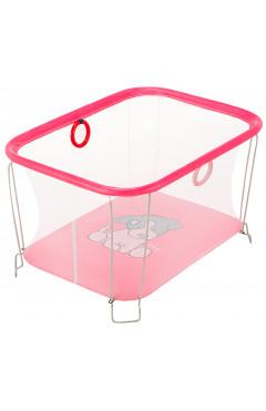 Манеж Qvatro Солнышко-02 мелкая сетка  розовый (dog)