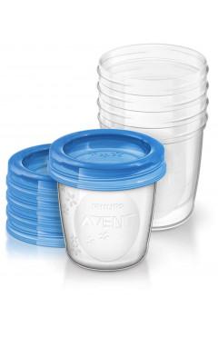 Avent Контейнеры для хранения грудного молока 5х180мл
