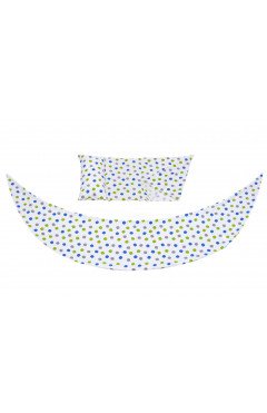 Nuvita Набор аксессуаров для подушки DreamWizard (наволочка, мини-подушка) Белый с точками