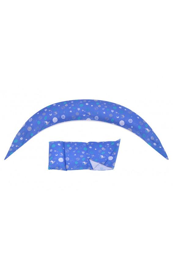 Nuvita Подушка для беременных 10 в 1 DreamWizard (синяя), nv7100blue