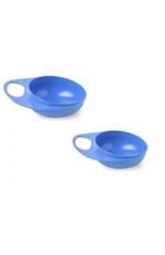 Nuvita Тарелка для кормления Easy Eating (2шт. глубокая)[NV8431Blue]