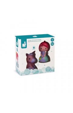 Janod Набор игрушек для купания Принцесса и единорог