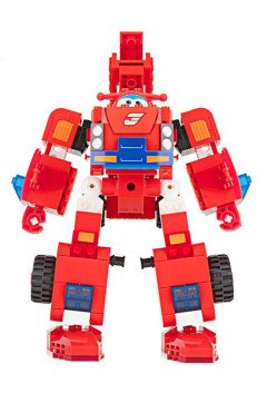 Super Wings Конструктор-трансформер Small Blocks 2-in-1 Buildable Transforming Vehicle Jett, Джетт