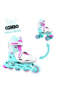 NEON Ролики Combo Skates[Бирюзовый (Размер 30-33)]
