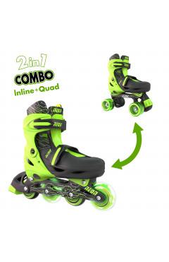 NEON Ролики Combo Skates[Салатовый (Размер 30-33)]