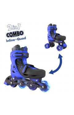 NEON Ролики Combo Skates[Синий (Размер 34-38)]