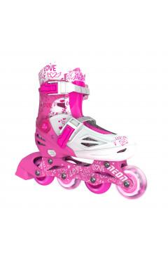 NEON Ролики Inline Skates[Розовый (Размер 34-38)]