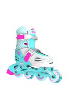 NEON Ролики Inline Skates[Бирюзовый (Размер 30-33)]