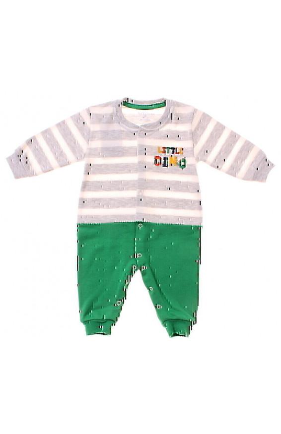 Комбінезон, для мальчиков, сірий/зелений, 904838