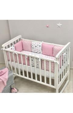 Бортики Baby Design Stars розовый