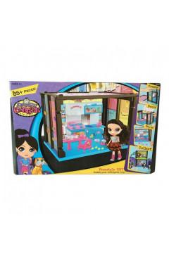 Домик сборный с куклой и кухней