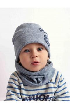 Деми шапка и хомут для мальчика