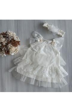 Нарядное платье с повязкой