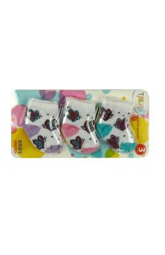 Набор носок хлопковых для девочки (3 пары)